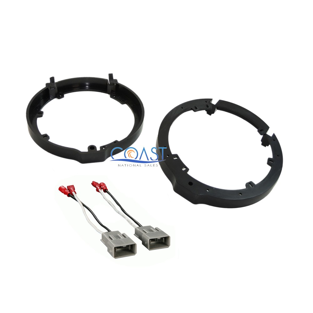 medium resolution of details about front or rear car door speaker wire harness adapter brackets for honda acura