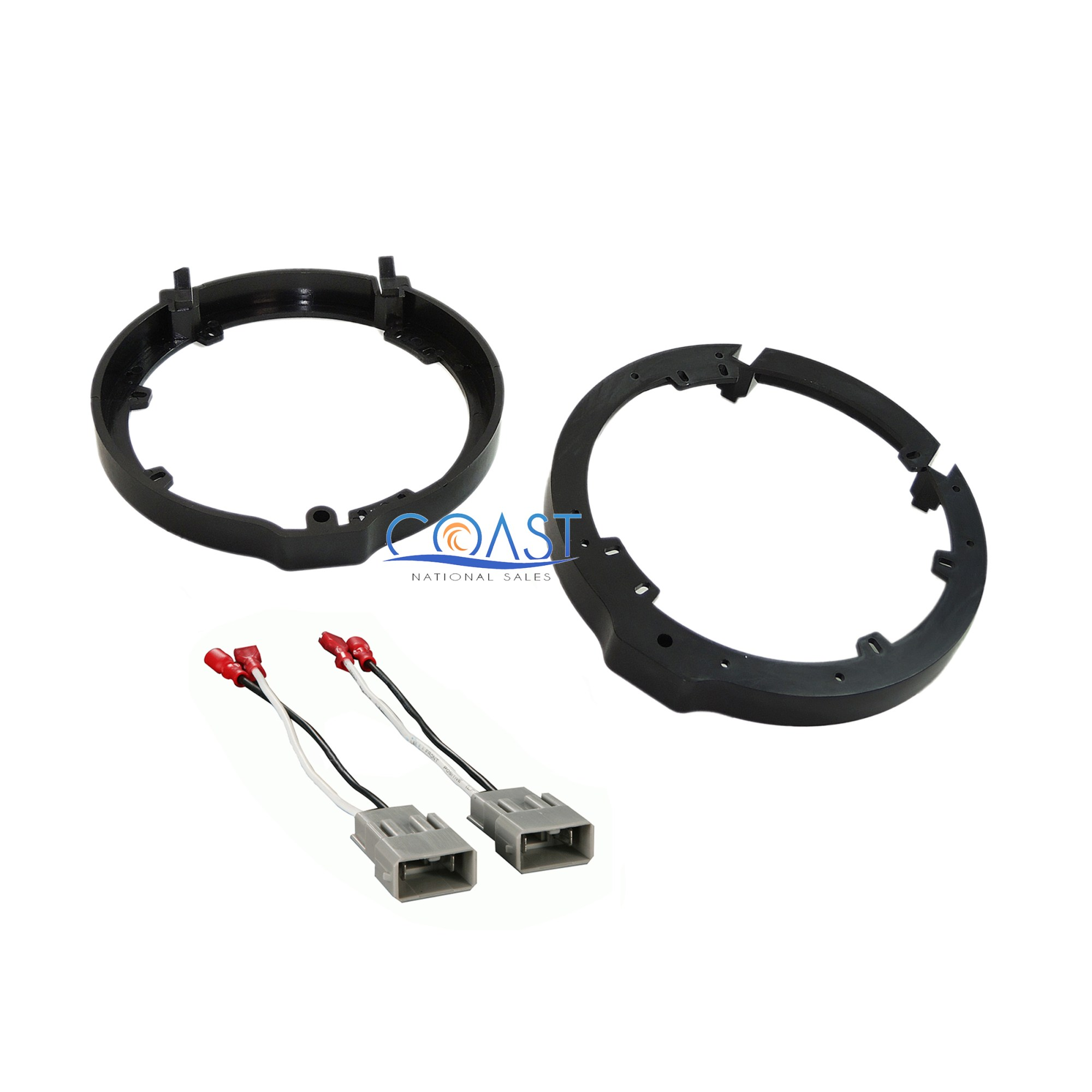 hight resolution of details about front or rear car door speaker wire harness adapter brackets for honda acura
