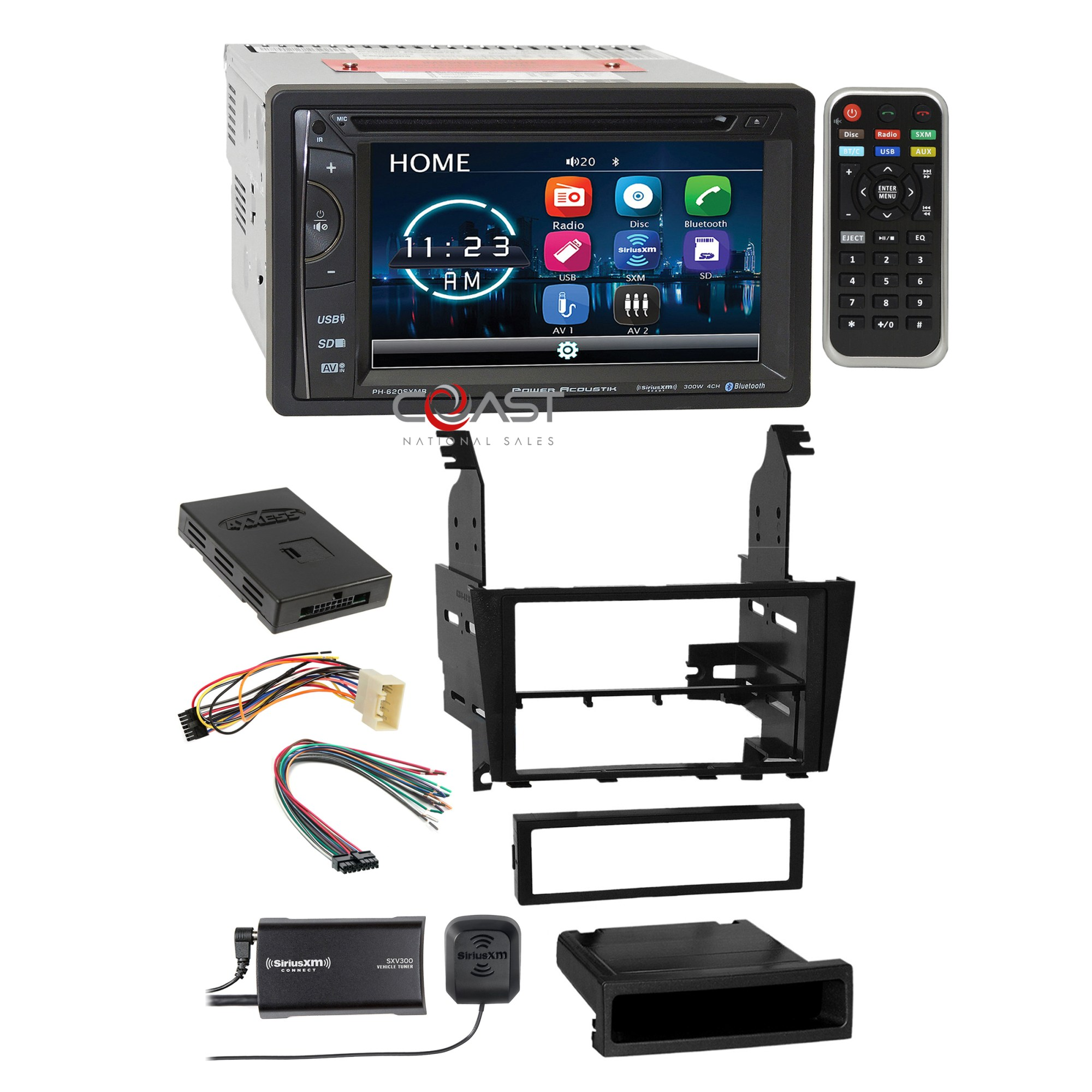hight resolution of details about power acoustik dvd bt sirius stereo dash kit jbl harness for 02 05 lexus is300