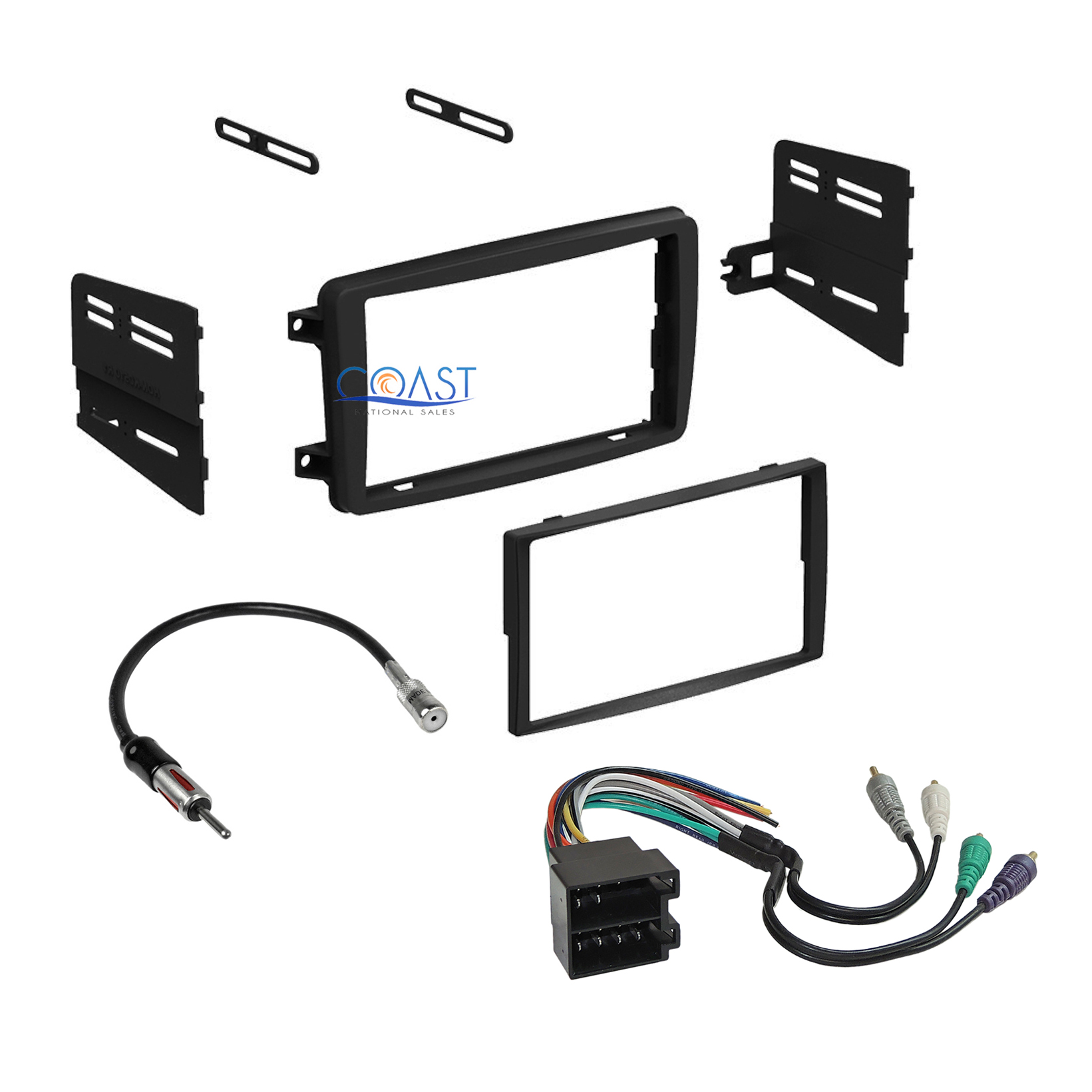 hight resolution of car radio stereo dash kit wire harness antenna for 2001 2004 mercedes c class
