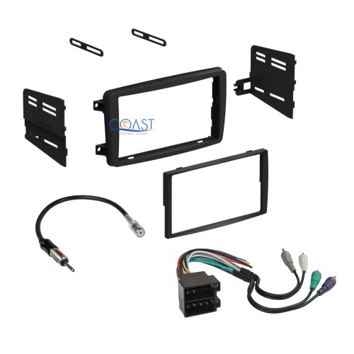 small resolution of car radio stereo dash kit wire harness antenna for 2001 2004 mercedes c class