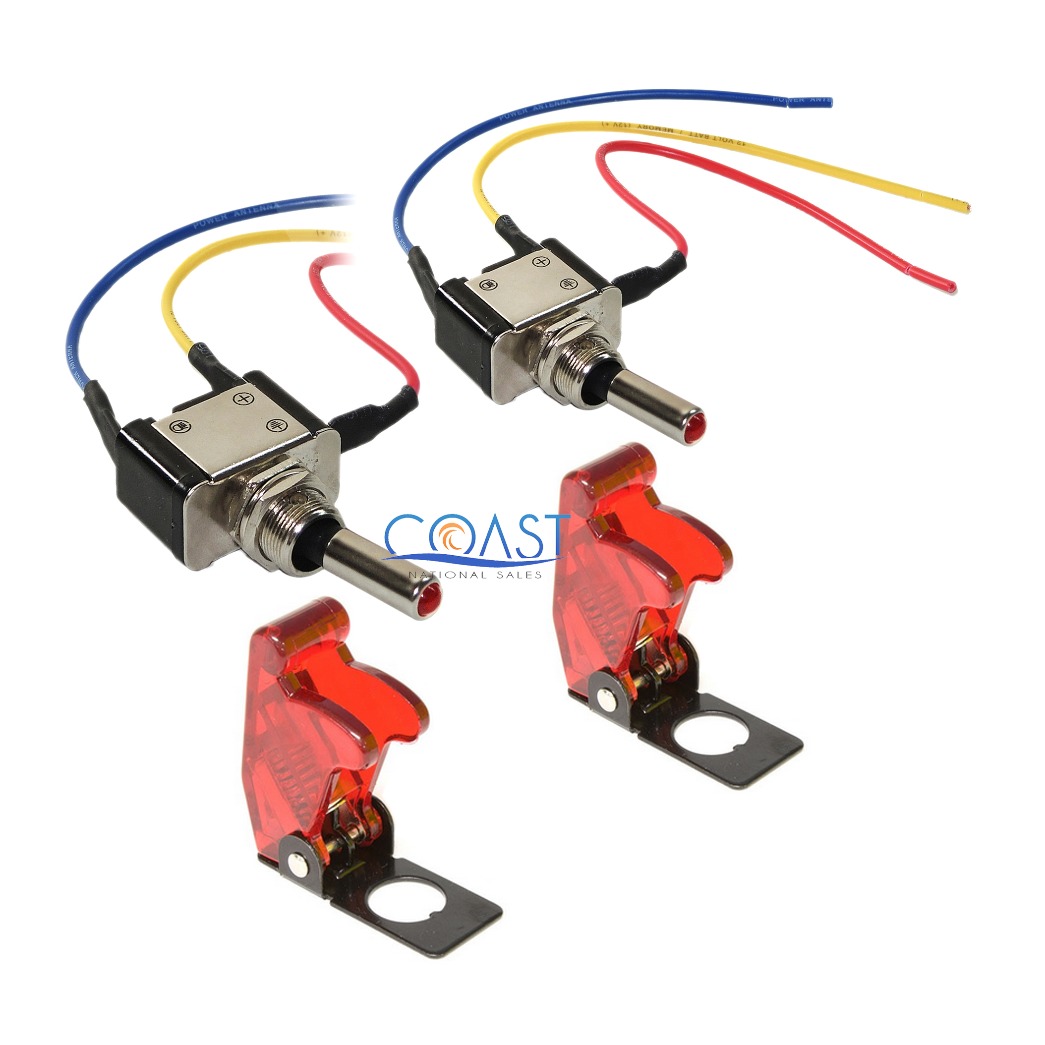 6 wire toggle switch wiring diagram for 220v plug 2x car home heavy duty clear red led metal
