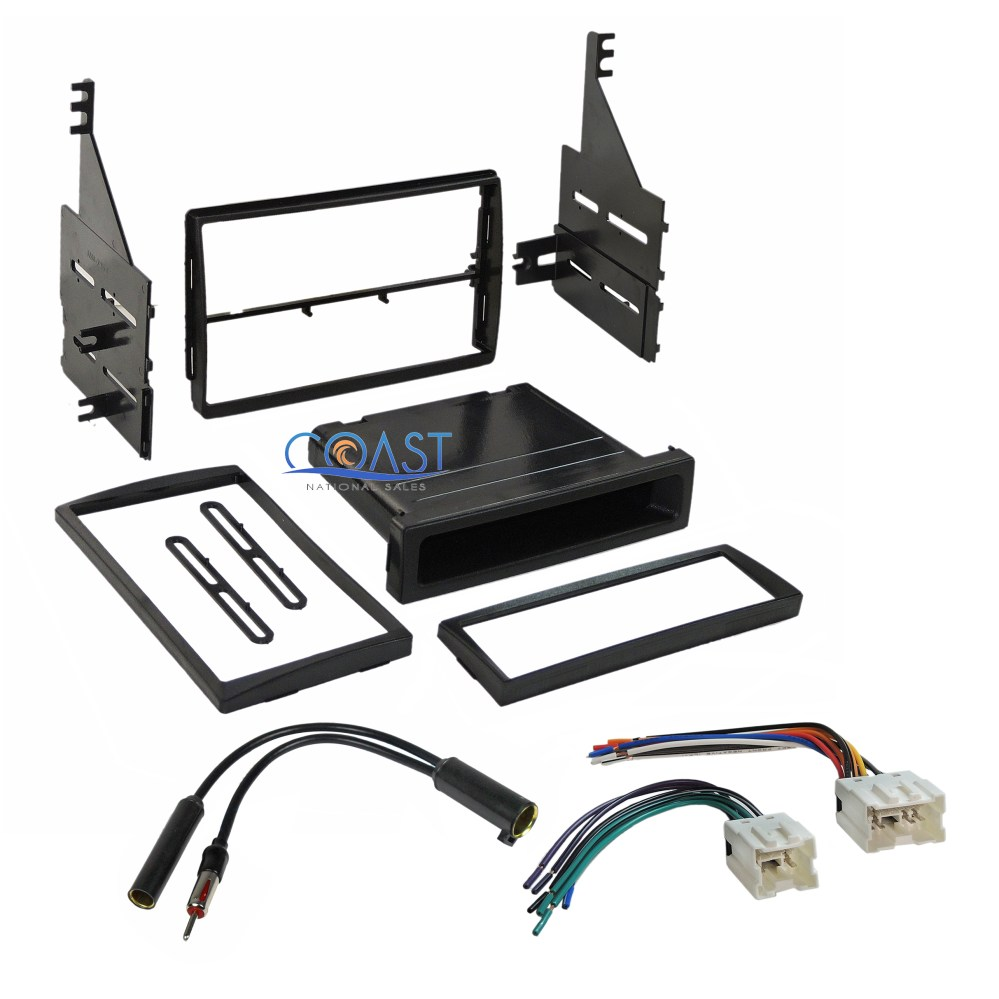 medium resolution of car stereo single double din dash kit wire harness for 2005 2006 nissan altima