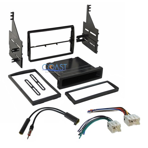 small resolution of car stereo single double din dash kit wire harness for 2005 2006 nissan altima