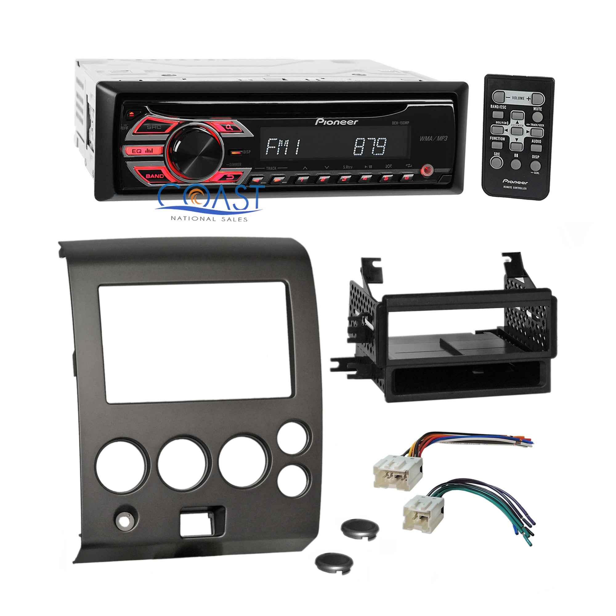 hight resolution of details about pioneer cd mp3 car radio stereo dash kit harness for 2004 nissan armada titan