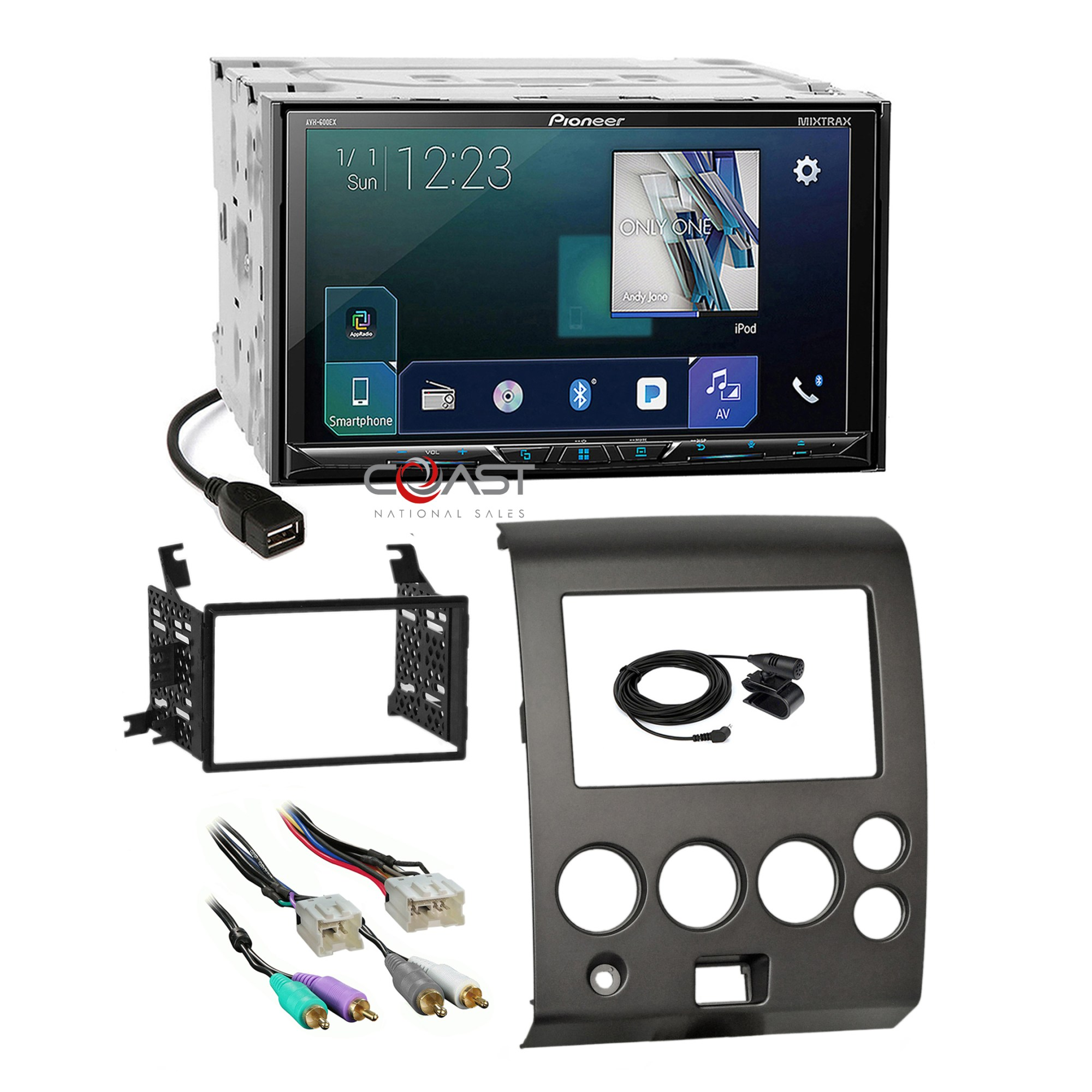hight resolution of details about pioneer 2018 sirius gps ready radio dash kit harness for 04 nissan armada titan