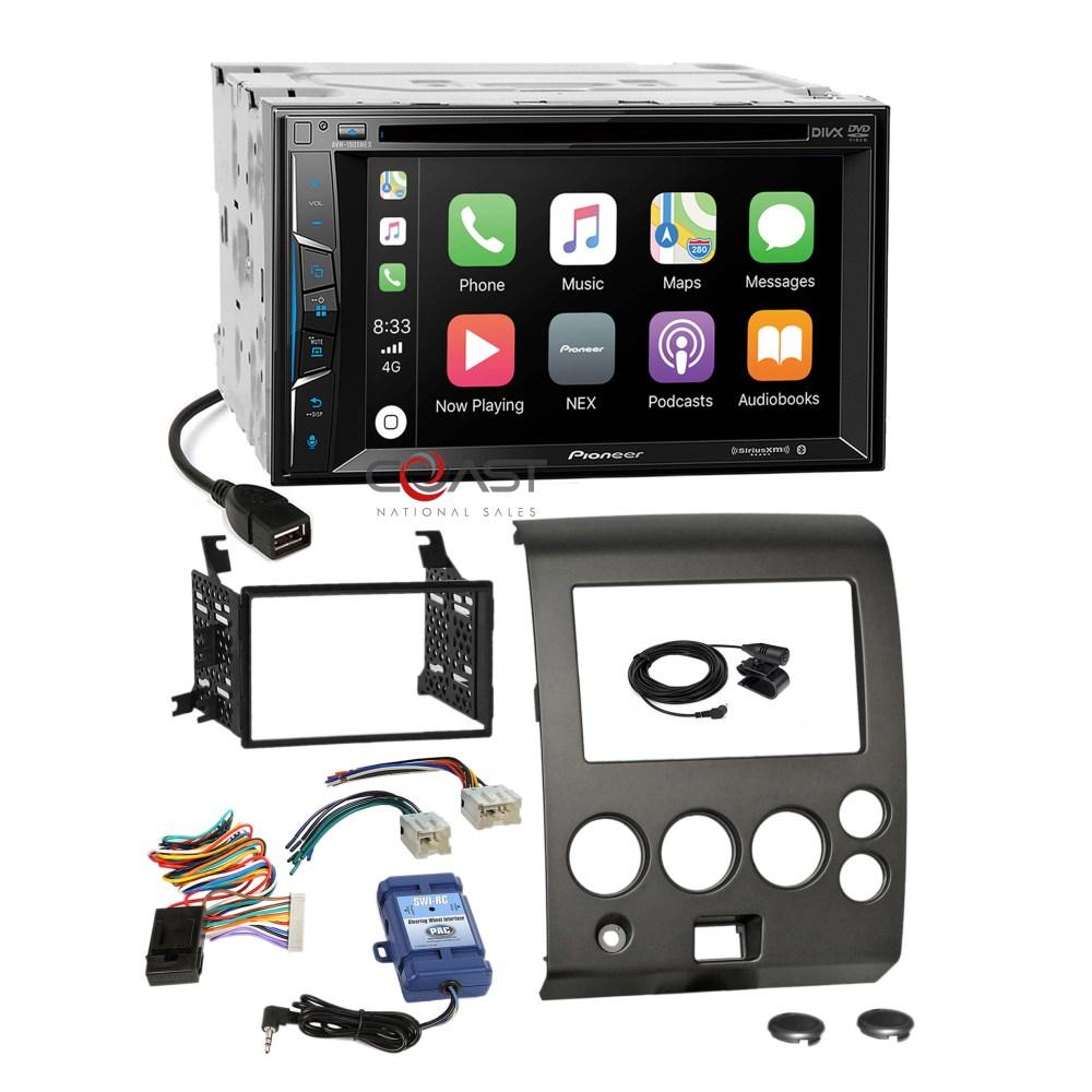 medium resolution of details about pioneer dvd carplay radio dash kit steering harness for 04 nissan armada titan