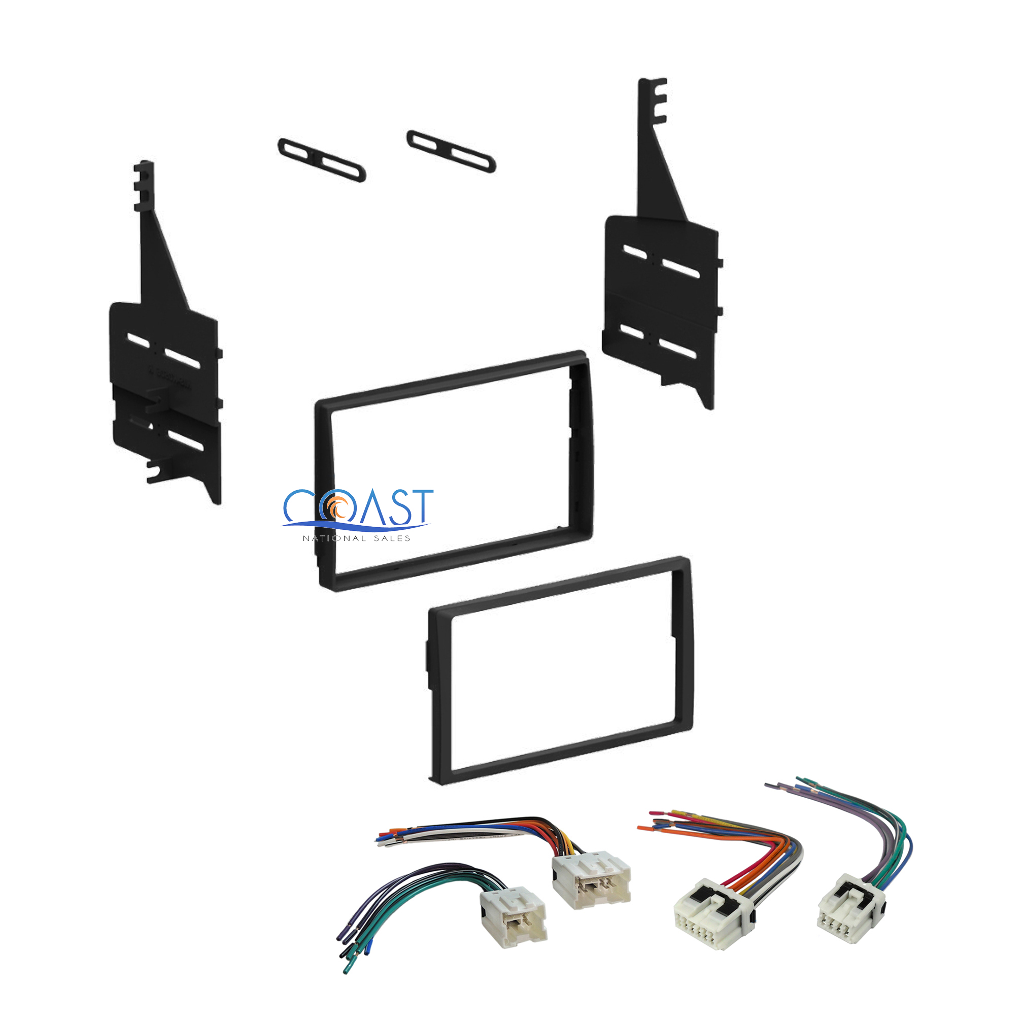 Single Double Din Stereo Dash Kit Harness Combo For