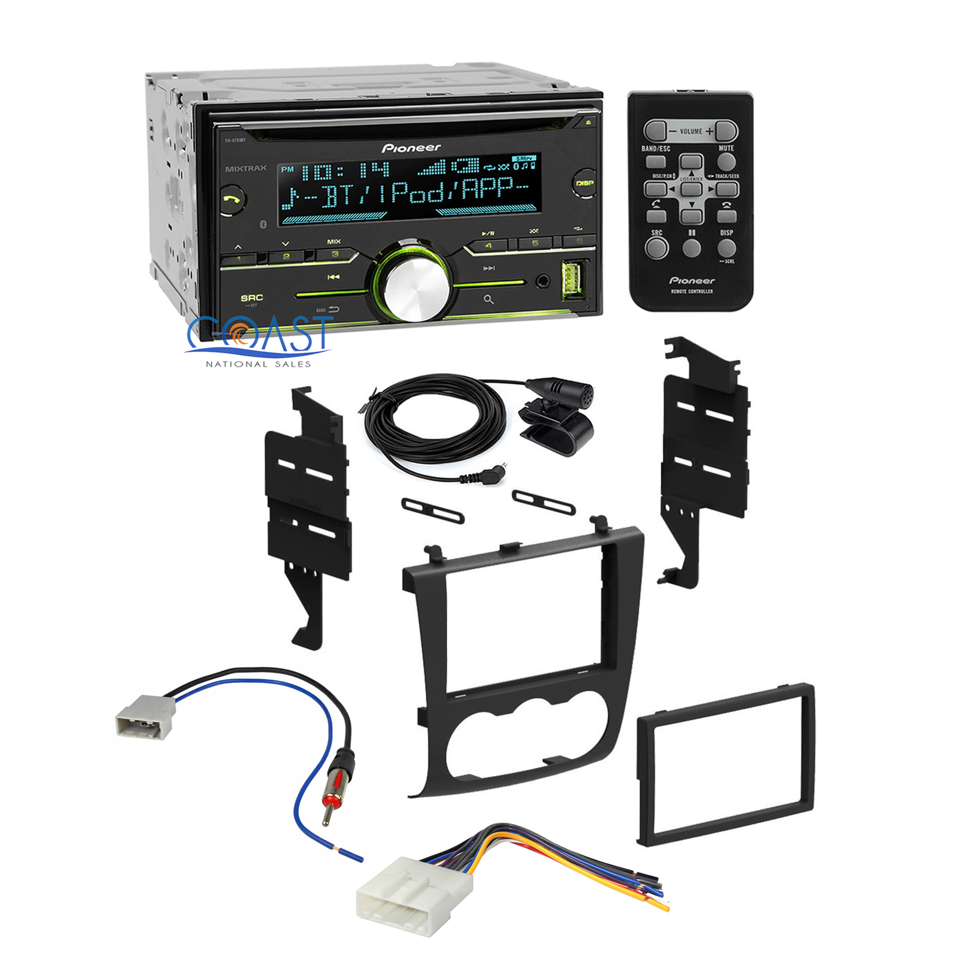 hight resolution of pioneer car radio stereo dash kit wiring harness for 2007 2011 nissan altima