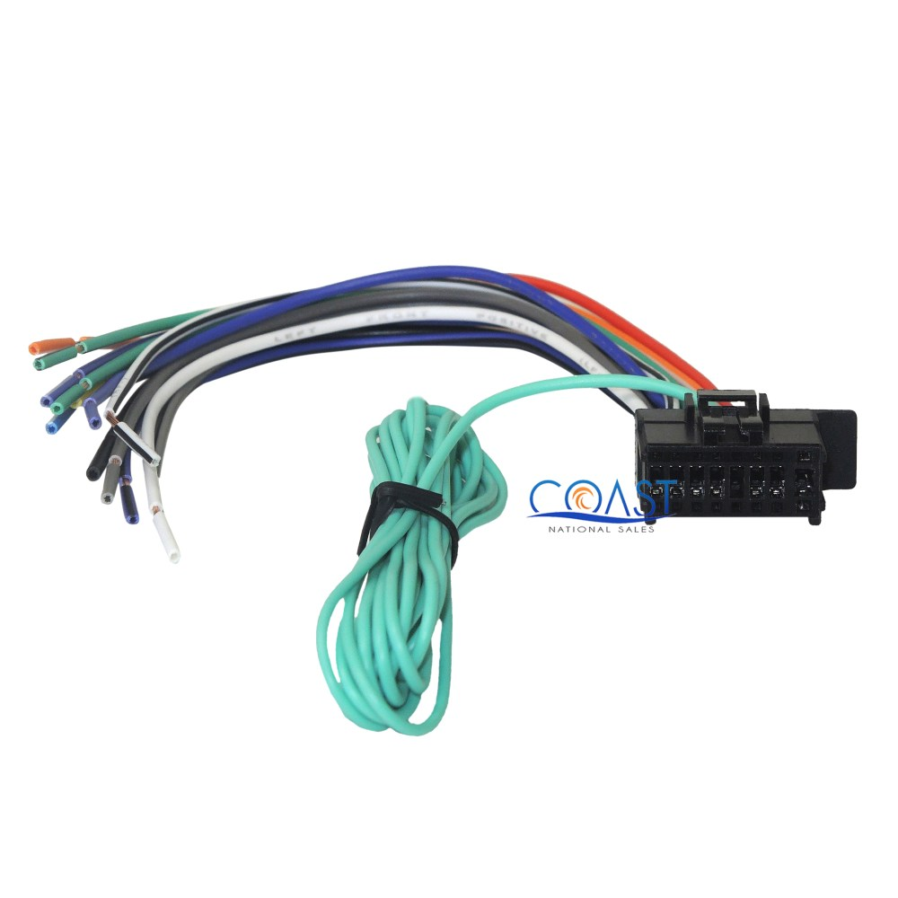 medium resolution of car radio audio replacement 16 pin wiring harness for pioneer headunits