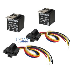 12vdc 30 40a Relay Wiring Diagram Electricity Electronics And Diagrams For Hvac 2x Car Audio Bosche Style With Wire Harness Sockets