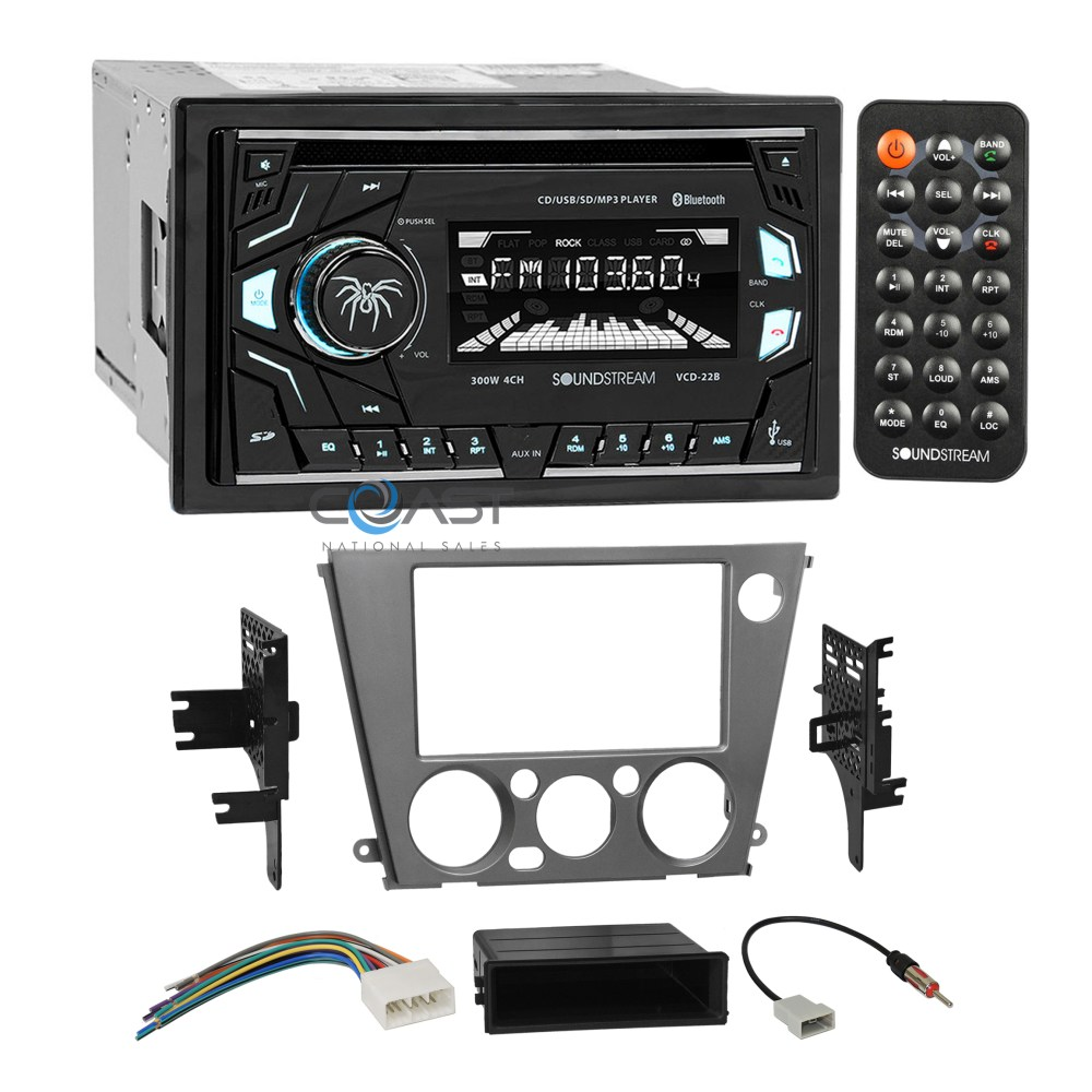 medium resolution of soundstream cd usb mp3 stereo dash kit harness for 05 09 subaru aux cable cd wiring harness for subaru outback 2011 car radio 6 cd
