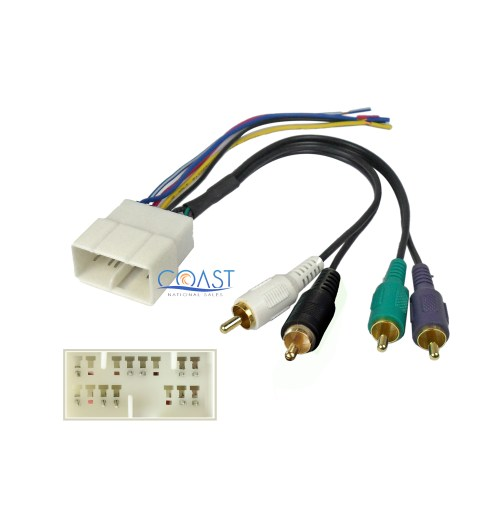 small resolution of car stereo radio amplifier wiring harness for select 1992 2001 toyota lexus