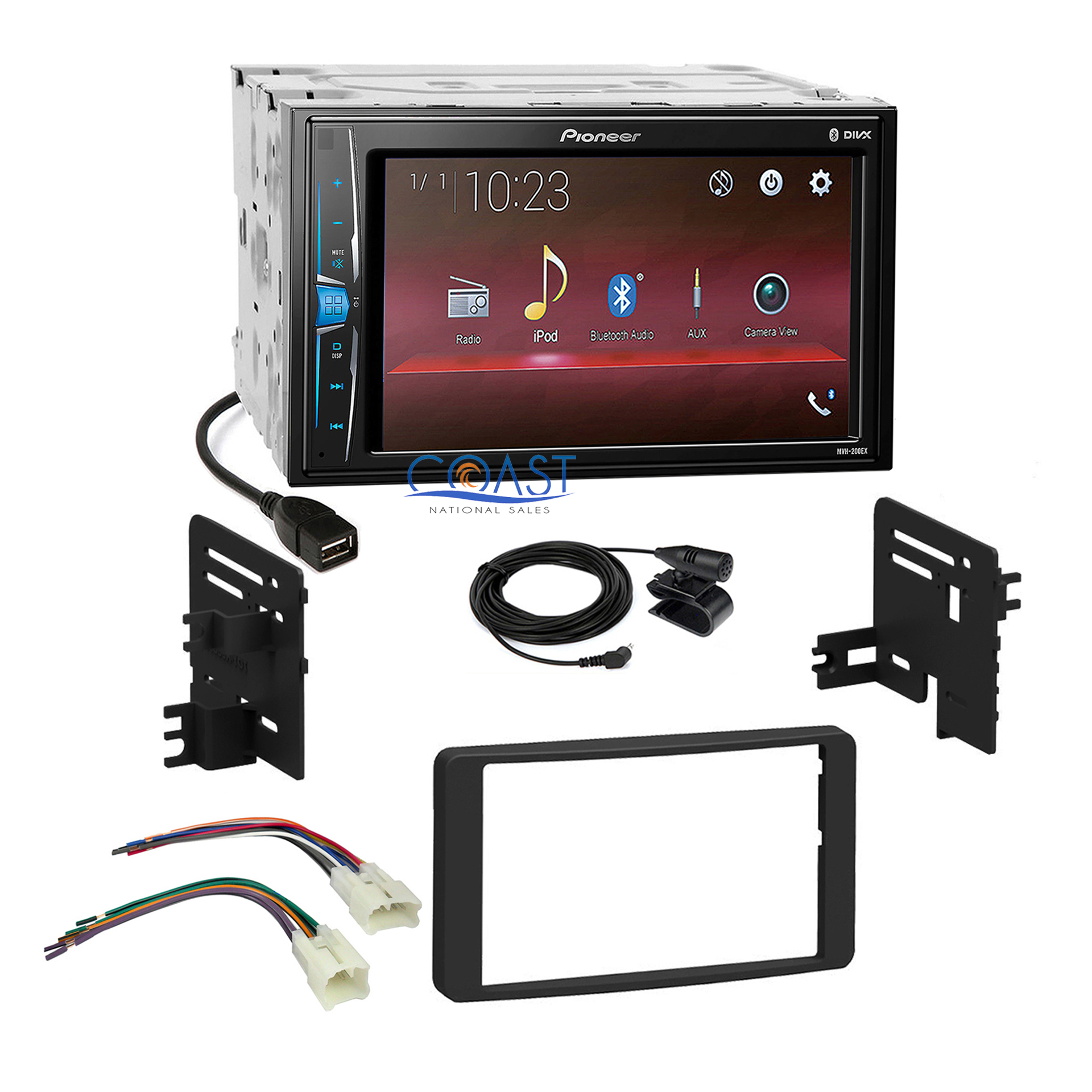 hight resolution of details about pioneer 2018 usb multimedia stereo dash kit harness 03 07 toyota tundra sequoia