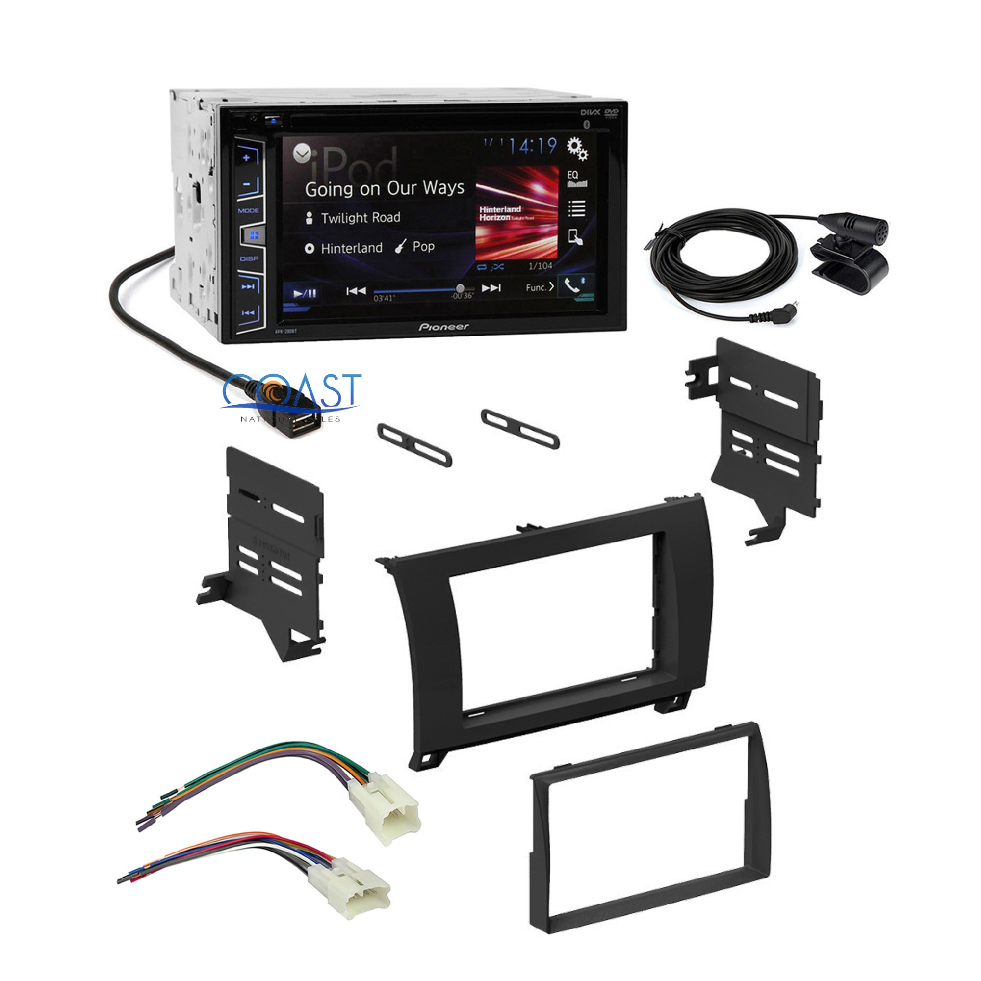 hight resolution of details about pioneer car radio black dash kit wire harness for 07 13 toyota tundra sequoia