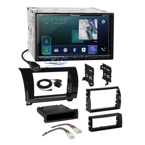 small resolution of details about pioneer sirius gps ready radio gloss dash kit harness for toyota tundra sequoia