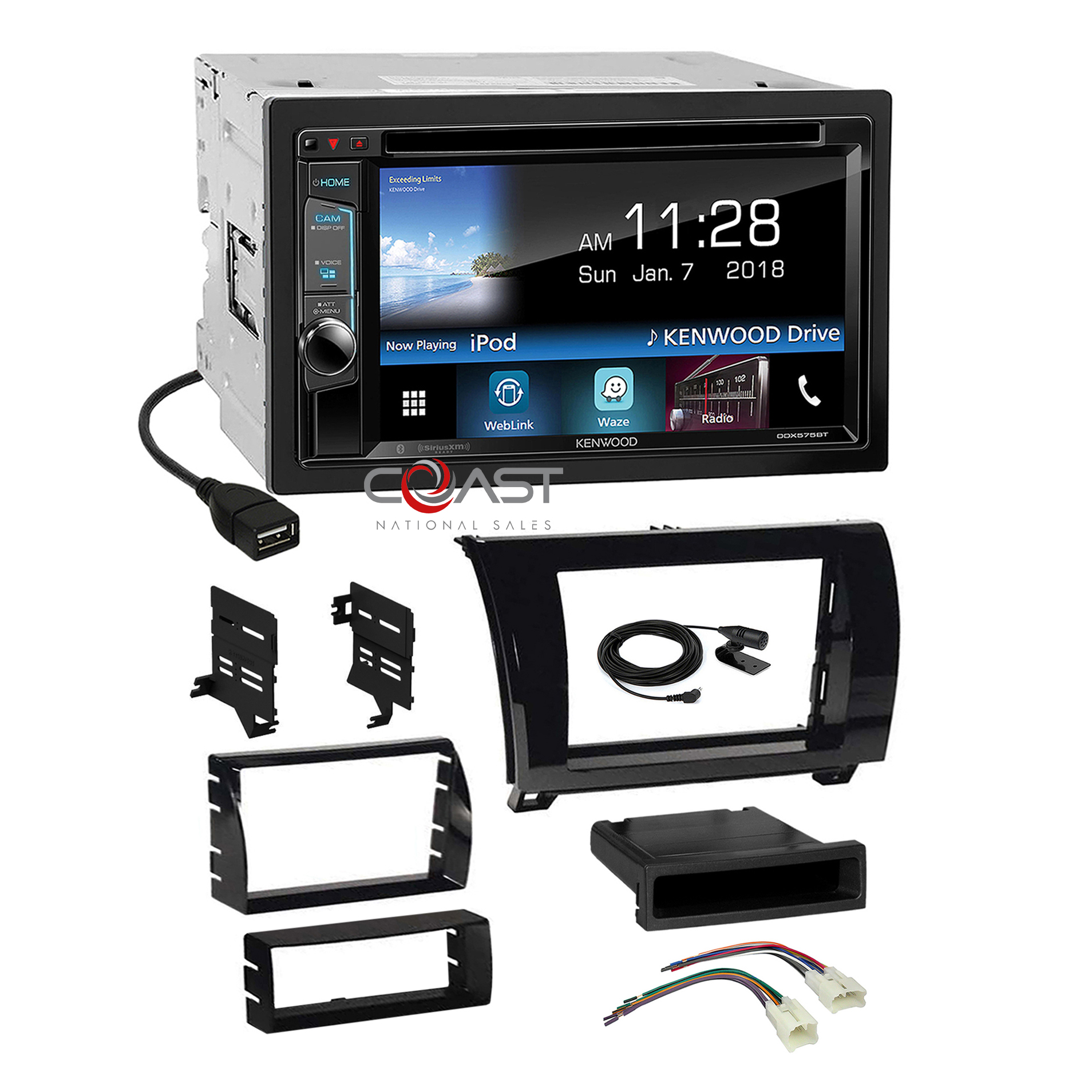 hight resolution of consumer electronics 2007 2008 2009 2010 2011 toyota sequoia tundra dash kit double din wire harness