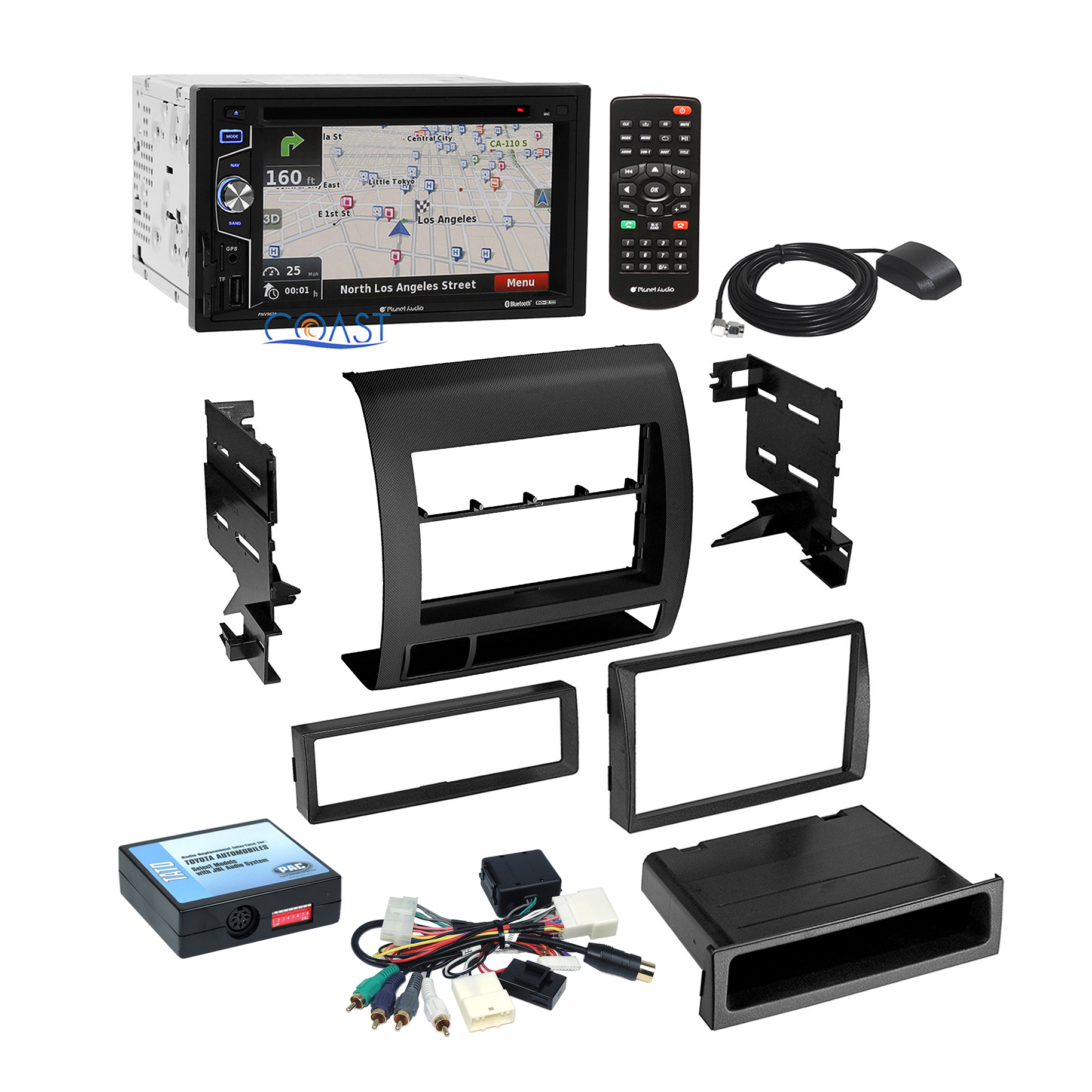 hight resolution of details about planet audio car stereo black dash kit jbl wire harness for 05 11 toyota tacoma