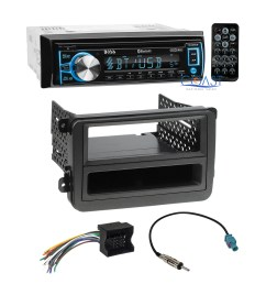 boss car cd usb bluetooth radio stereo dash kit wire harness for 06 volkswagon [ 1620 x 1620 Pixel ]