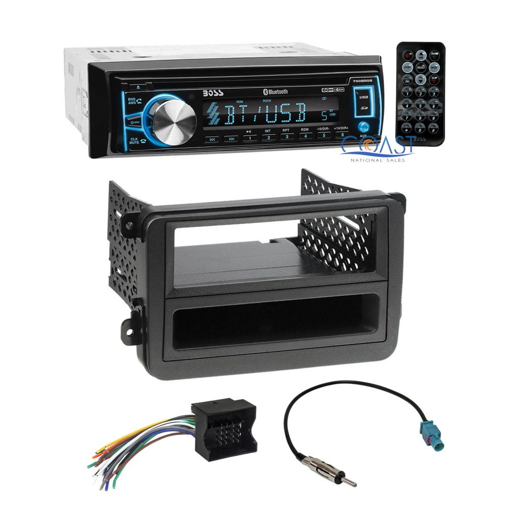 medium resolution of boss car cd usb bluetooth radio stereo dash kit wire harness for 06 volkswagon