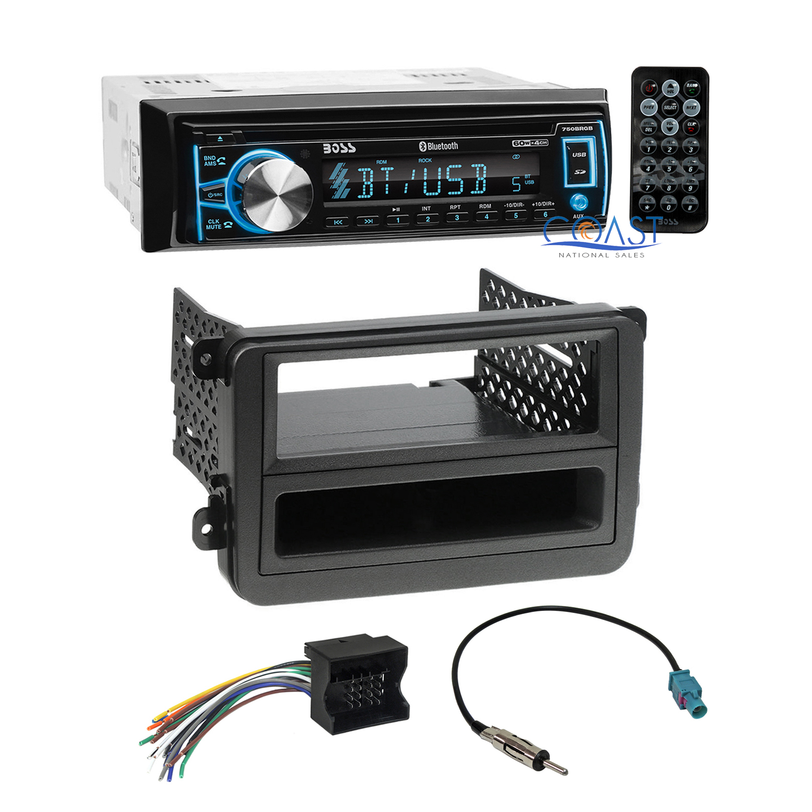 hight resolution of boss car cd usb bluetooth radio stereo dash kit wire harness for 06 volkswagon