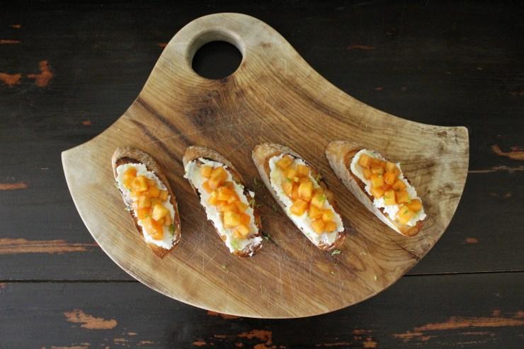 Persimmon crostini