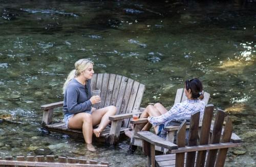 River slacking at Pfeiffer Big Sur State Park. Dawn Page / CoastsideSlacking