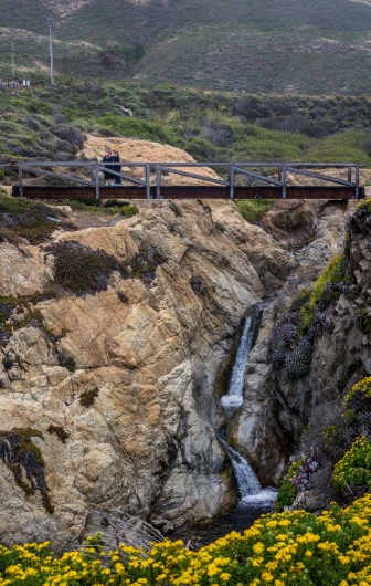 Waterfall at Garrapata State Beach. Dawn Page/CoastsideSlacking
