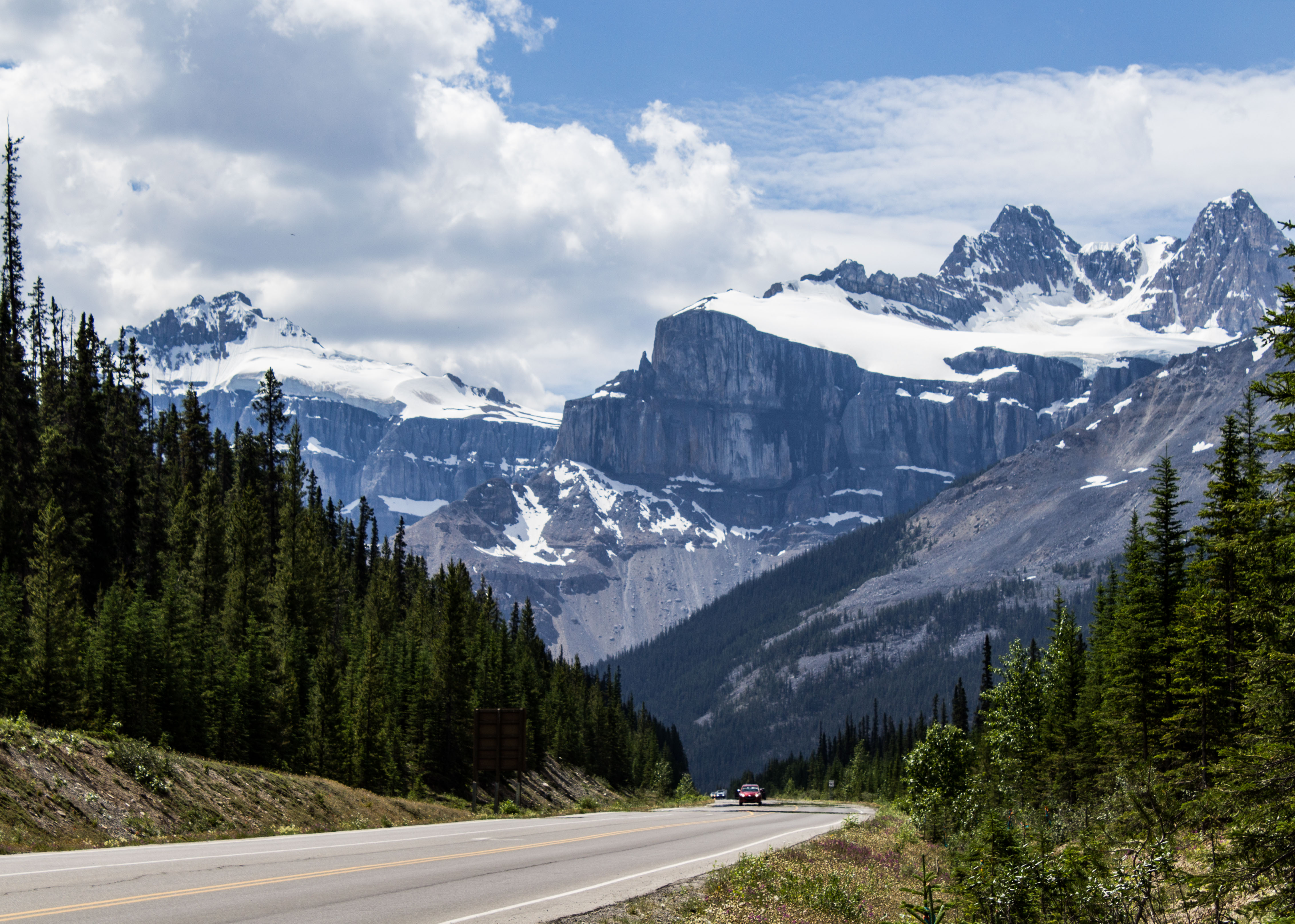 The Canadian Rocky Mountain Icefields have over a hundred glaciers. Many are visible from the Icefields Parkway. Dawn Page / CoastsideSlacking