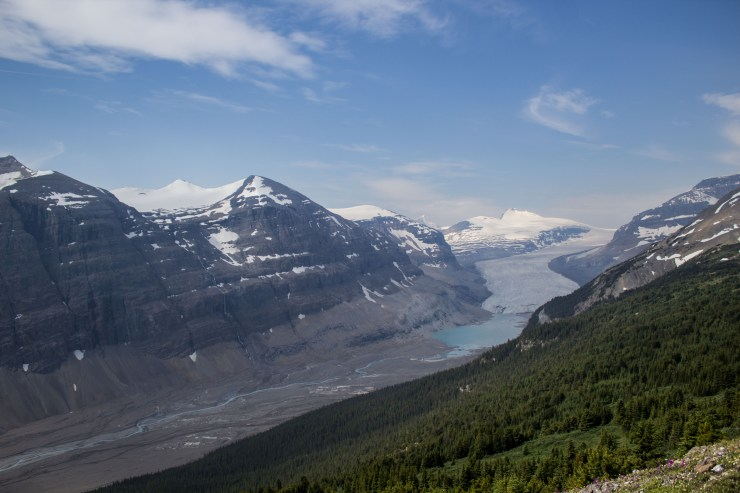 Next emerges the Saskatchewan River headwaters flowing from the Glacier. Dawn Page / CoastsideSlacking