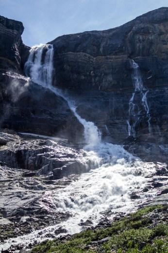 Bow Glacier Falls in Banff National Park. Dawn Page / CoastsideSlacking