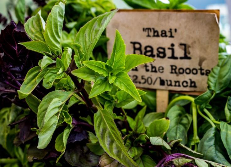 Fresh basil from Fly Girl Farm at the Coastside Farmer's Market in Pacifica, CA. Dawn Page / CoastsideSlacking