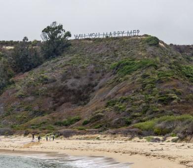 A forgotten proposal at Martins Beach, near Half Moon Bay, California. Dawn Page / CoastsideSlacking