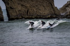 Surfers at Martins Beach, near Half Moon Bay, California. Dawn Page / CoastsideSlacking