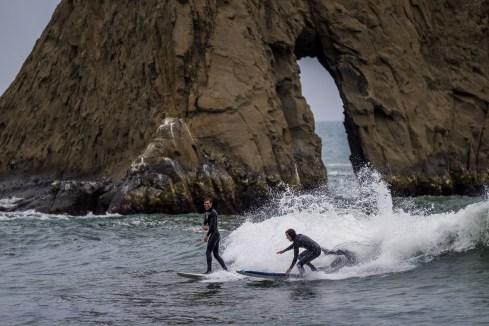 Surfers at Martins Beach, near Half Moon Bay, California. Dawn Page / CoastsideSlacking