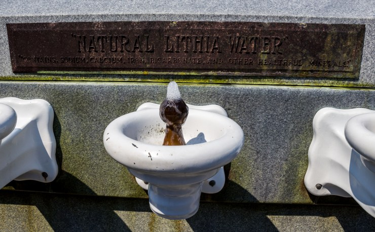 Lithia water in Ashland, Oregon. A very little goes a long way! Trust us. Dawn Page / CoastsideSlackers