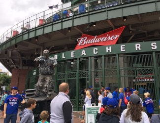 Harry Caray statue outside the Wrigley Field bleachers. Dan Page/CoastsideSlacking