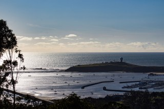 Pillar Point Harbor, from the top of El Granada's Quarry Park. Dawn Page / CoastsideSlacking