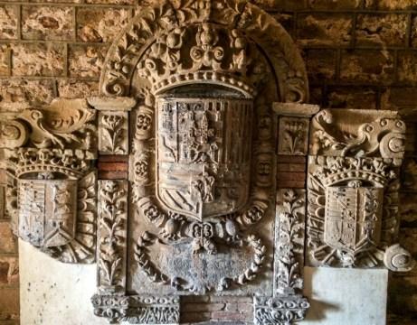 Coat of arms in Montjuïc Castle in Barcelona. Dawn Page / CoastsideSlacking