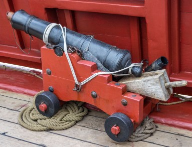 A tiny cannon on the Lady Washington, docked at Pillar Point Harbor. Dawn Page / CoastsideSlacking