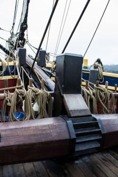Windlass on the Lady Washington, docked at Pillar Point Harbor. Dawn Page / CoastsideSlacking