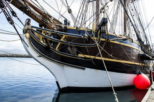 The Lady Washington, docked at Pillar Point Harbor. Dawn Page / CoastsideSlacking