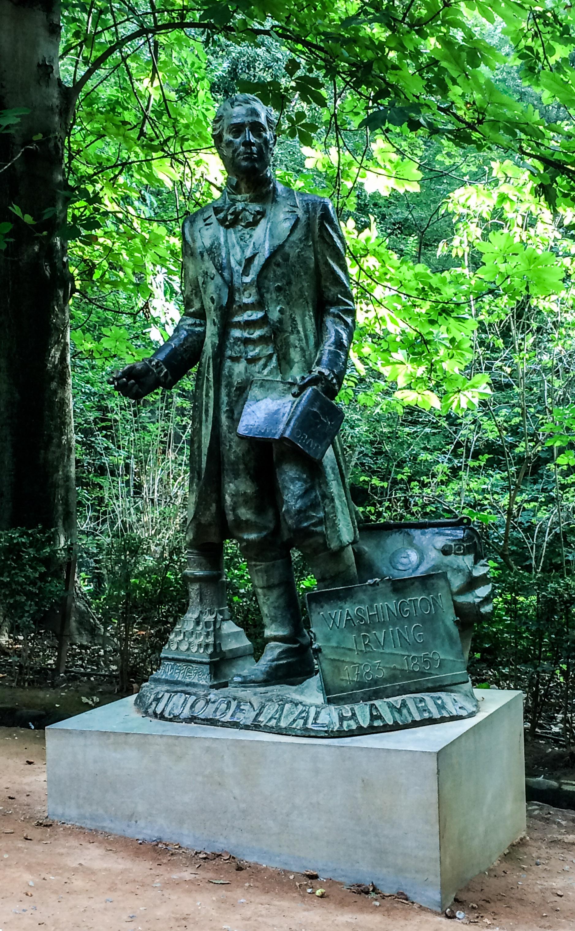 Washington Irving statue in Granada, Spain. Dawn Page / CoastsideSlacking
