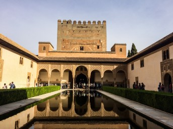 Reflecting pool in the Alhambra palace in Granada, Spain. Dawn Page / CoastsideSlacking