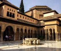 Courtyard in the Alhambra palace in Granada, Spain. Dawn Page / CoastsideSlacking