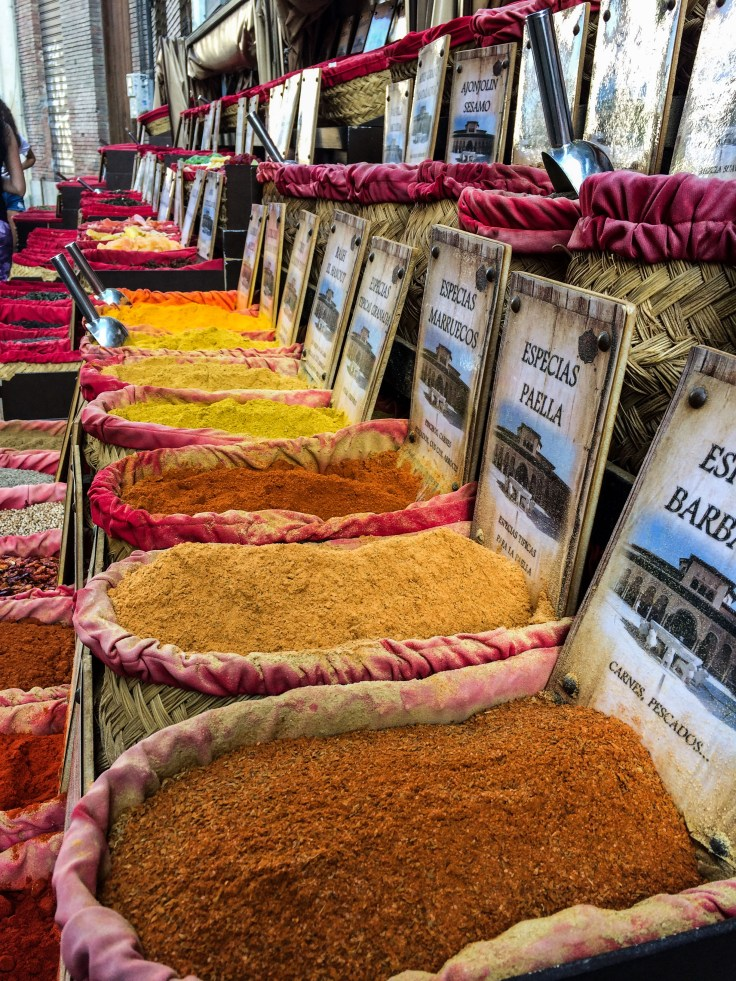 Spices for sale in Granada, Spain. Dawn Page / CoastsideSlacking