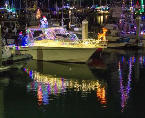 Pillar Point Harbor Lighted Boat Festival. Dawn Page / CoastsideSlacking