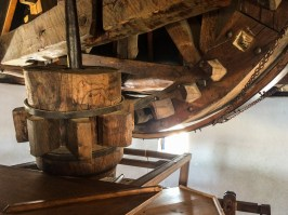 Consuegra windmill machinery in Castile-La Mancha, Spain. Dawn Page / CoastsideSlacking