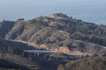 Bridge north of Tom Lantos Tunnels. Montara Mountain. Dawn Page / CoastsideSlacking