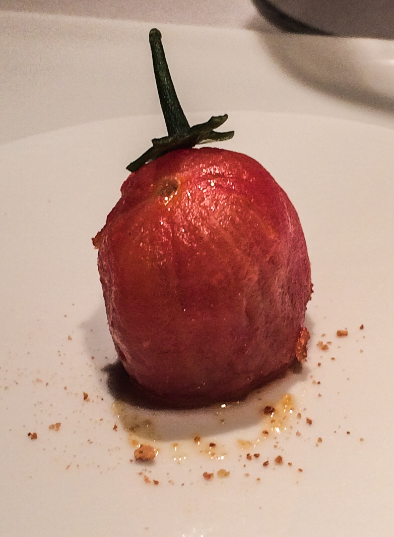 Honestly, we cannot remember what this was at Cinc Sentits, only that it was not a tomato. LOL. Dawn Page / CoastsideSlacking